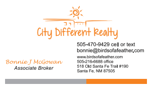 Bonnie McGowan is a licensed New Mexico Real Estate Broker with City Different Realty in Santa Fe